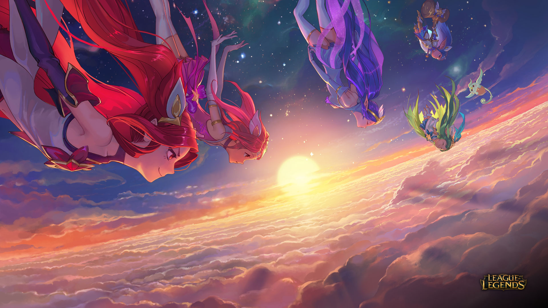 Star Guardian Jinx Lux Janna Lulu Poppy League Of Legends